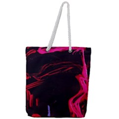 Calligraphy 4 Full Print Rope Handle Tote (large) by bestdesignintheworld