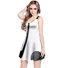 Music Note Reversible Sleeveless Dress