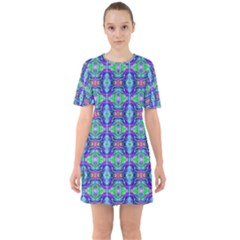 Artwork By Patrick Colorful 41 Sixties Short Sleeve Mini Dress