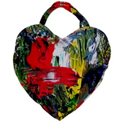 Bow Of Scorpio Before A Butterfly 2 Giant Heart Shaped Tote by bestdesignintheworld