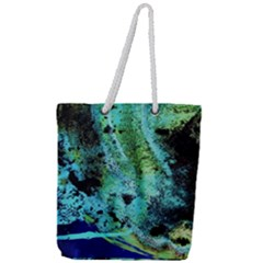 Blue Options 6 Full Print Rope Handle Tote (large) by bestdesignintheworld