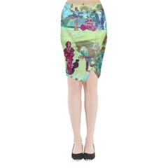 Trail 1 Midi Wrap Pencil Skirt by bestdesignintheworld