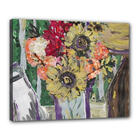 Sunflowers And Lamp Canvas 20  X 16  by bestdesignintheworld