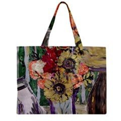 Sunflowers And Lamp Zipper Mini Tote Bag by bestdesignintheworld