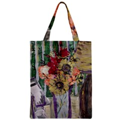 Sunflowers And Lamp Zipper Classic Tote Bag by bestdesignintheworld