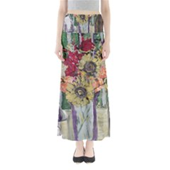 Sunflowers And Lamp Full Length Maxi Skirt by bestdesignintheworld