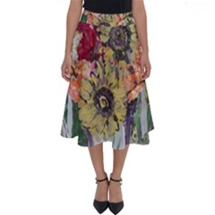 Sunflowers And Lamp Perfect Length Midi Skirt by bestdesignintheworld