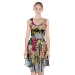 Sunflowers And Lamp Racerback Midi Dress