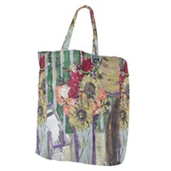 Sunflowers And Lamp Giant Grocery Zipper Tote by bestdesignintheworld
