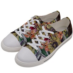 Sunflowers And Lamp Women s Low Top Canvas Sneakers by bestdesignintheworld