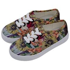 Sunflowers And Lamp Kids  Classic Low Top Sneakers by bestdesignintheworld