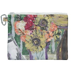 Sunflowers And Lamp Canvas Cosmetic Bag (xxl) by bestdesignintheworld