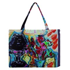 Still Life With Two Lamps Zipper Medium Tote Bag by bestdesignintheworld