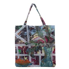 Still Life With Tangerines And Pine Brunch Grocery Tote Bag by bestdesignintheworld