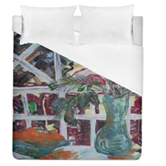 Still Life With Tangerines And Pine Brunch Duvet Cover (queen Size) by bestdesignintheworld