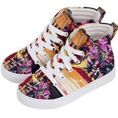 Still Life With Lamps And Flowers Kid s Hi Top Skate Sneakers by bestdesignintheworld