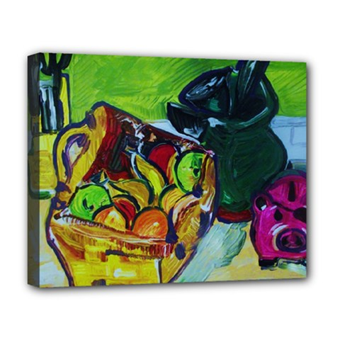 Still Life With A Pigy Bank Deluxe Canvas 20  X 16   by bestdesignintheworld