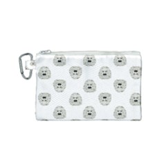 Angry Theater Mask Pattern Canvas Cosmetic Bag (small) by dflcprints