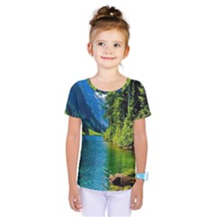 Beautiful Nature Lake Kids  One Piece Tee by Modern2018