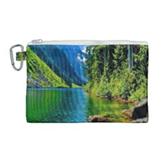 Beautiful Nature Lake Canvas Cosmetic Bag (large) by Modern2018
