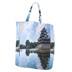 Beautiful Pagoda On Lake Nature Wallpaper Giant Grocery Zipper Tote by Modern2018