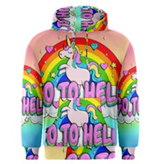 Go To Hell   Unicorn Men s Pullover Hoodie by Valentinaart