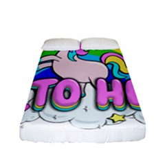 Go To Hell   Unicorn Fitted Sheet (full/ Double Size)