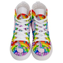 Go To Hell   Unicorn Women s Hi Top Skate Sneakers