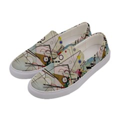 Composition 8   Vasily Kandinsky Women s Canvas Slip Ons by Valentinaart