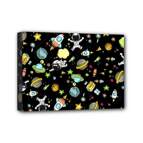Space Pattern Mini Canvas 7  X 5  by Valentinaart