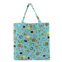 Space Pattern Grocery Tote Bag