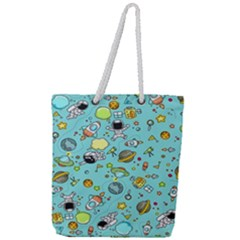 Space Pattern Full Print Rope Handle Tote (large) by Valentinaart