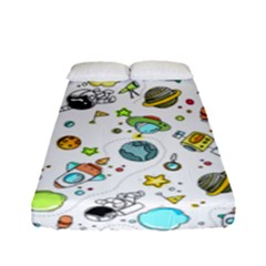 Space Pattern Fitted Sheet (full/ Double Size) by Valentinaart