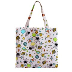Space Pattern Zipper Grocery Tote Bag by Valentinaart