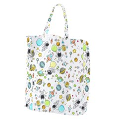 Space Pattern Giant Grocery Zipper Tote by Valentinaart