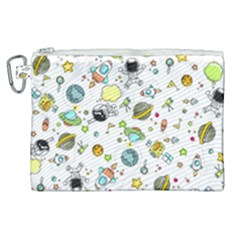 Space Pattern Canvas Cosmetic Bag (xl) by Valentinaart
