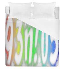 Genius Funny Typography Bright Rainbow Colors Duvet Cover (queen Size) by yoursparklingshop