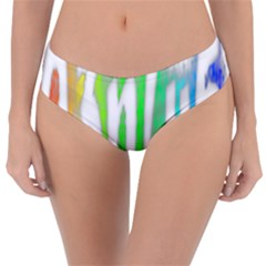 Genius Funny Typography Bright Rainbow Colors Reversible Classic Bikini Bottoms by yoursparklingshop