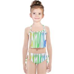 Genius Funny Typography Bright Rainbow Colors Girls  Tankini Swimsuit by yoursparklingshop