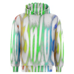 Genius Funny Typography Bright Rainbow Colors Men s Overhead Hoodie