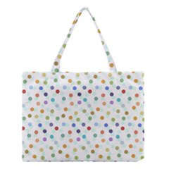 Dotted Pattern Background Brown Medium Tote Bag by Modern2018