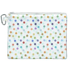 Dotted Pattern Background Brown Canvas Cosmetic Bag (xxl) by Modern2018