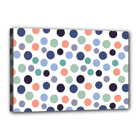 Dotted Pattern Background Blue Canvas 18  X 12