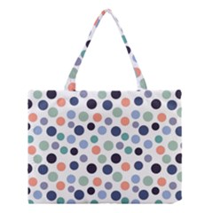 Dotted Pattern Background Blue Medium Tote Bag by Modern2018