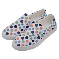 Dotted Pattern Background Blue Men s Canvas Slip Ons by Modern2018