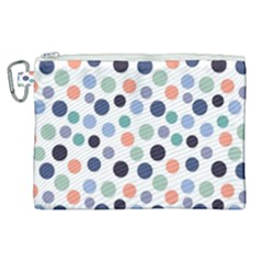 Dotted Pattern Background Blue Canvas Cosmetic Bag (xl) by Modern2018