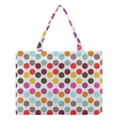 Dotted Pattern Background Medium Tote Bag by Modern2018