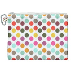 Dotted Pattern Background Canvas Cosmetic Bag (xxl) by Modern2018