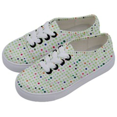 Dotted Pattern Background Full Colour Kids  Classic Low Top Sneakers by Modern2018
