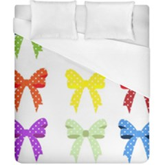 Ribbons And Bows Polka Dots Duvet Cover (california King Size) by Modern2018
